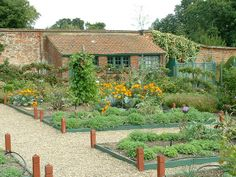 Pinned by http://FlanaganMotors.com.  Potager at Greys Court, Henley-on-Thames, Oxfordshire.