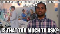 Parks and Rec Tom Haverford...it makes it that much better because I just got done watching this episode