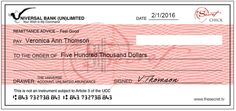 Universal Check for V.Thomson