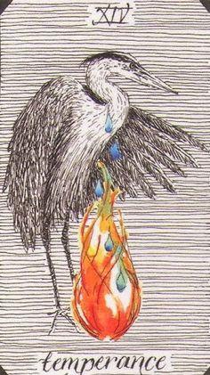 Temperance - Tarot of the Wild Unknown Tarot Card Decks, Tarot Cards, Temperance Tarot, La Danse Macabre, Tarot Major Arcana, Oracle Tarot, Free Tarot, Tarot Card Meanings, Tarot Spreads
