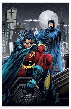 Batman and Robin by Freddie Williams
