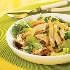 Caribbean Grilled Chicken Salad with Honey-Lime Dressing | MyRecipes.com #MyPlate #protein #vegetable