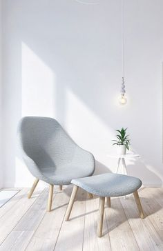Love this for a simple armchair for the bedroom. All it needs is a beautiful pillow!