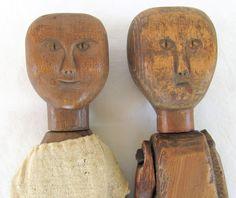 19th century southern folk art dolls