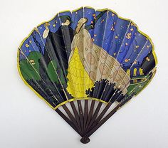 Fan Date: ca. 1925 Culture: French Medium: paper, wood, metal Dimensions: Length: 9 3/8 in. (23.8 cm) Credit Line: Gift of Milton W. and Blanche R. Brown, in memory of Polaire Weissman, 1992 Accession Number: 1992.167.3