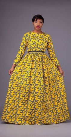 Here at Grass-fields we have an awesome range of African dress designs. Whether you're after an African print maxi or midi dress, we've got something for you. African Fashion Ankara, African Print Fashion, Africa Fashion, Nigerian Fashion, Ghanaian Fashion, Ankara Maxi Dress, Ankara Dress Styles, Ankara Gowns, Long African Dresses