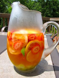 White wine sangria....I tried this today..only without the seltzer...fabulous!!!! Goes on my must make list!