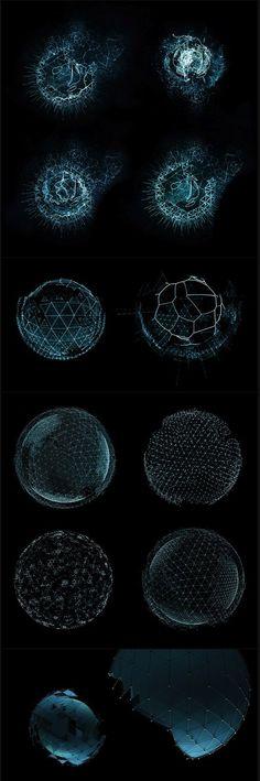 Sphères, lignes et points / Difficulté / Lumière bleue - numérique, technologies. #TRON: