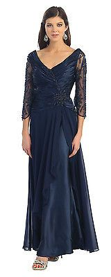 8 COLOR FORMAL OCCASION WEDDING MOTHER OF BRIDE GROOM DRESS EVENING GOWN M /6XL