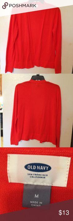 Old Navy Orange cardigan size M Old Navy orange cardigan size M Old Navy Sweaters Cardigans