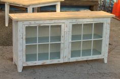 This is cool!  Sideboard made from salvaged windows and wood!