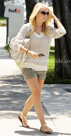 Julianne Hough Style and Fashion - Rag & Bone Exeter Crew Neck Sweater on Celebrity Style Guide