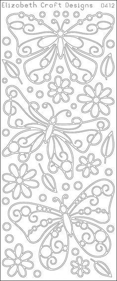 Big Butterflies Peel-Off Stickers-Gold By Elizabeth Craft Designs