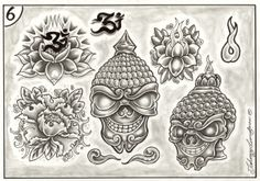 Skull, Tattoos, Awesome, Tatuajes, Tattoo, Japanese Tattoos, Be Awesome, A Tattoo, Sugar Skull