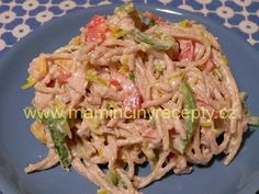 Těstovino-tuňákový salát Gnocchi, Cabbage, Recipies, Spaghetti, Vegetables, Ethnic Recipes, Food, Diet, Lasagna