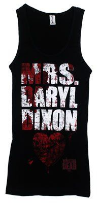 The Walking Dead Mrs Daryl Dixon Officially Licensed Junior Girls Tank Top Shirt $13.19 (51% OFF)