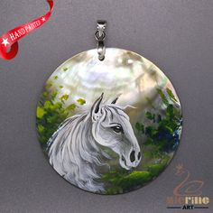 FASHION NECKLACE HAND PAINTED HORSE SHELL PENDANT ZL3005121 #ZL #Pendant