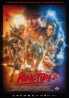 Kung Fury is an over-the-top action comedy that was crowd funded through Kickstarter. It features Kung Fury, a Kung Fu renegade cop who travels back in time to kill his Nemesis, Hitler. The film features nazis, dinosaurs, vikings and cheesy one-liners. Movie Gifs, Hd Movies, Movies Online, Movies And Tv Shows, Movie Tv, Movies Free, Watch Movies, Movie Shots, Kung Fury