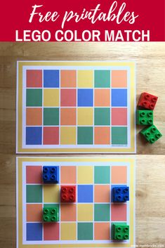 Recursos gratis: Actividadpara aprender a coincidir colores para preescolar con ladrillos LEGO-MOM BRICKS #lego #legoactivities #legolearning #otactivity