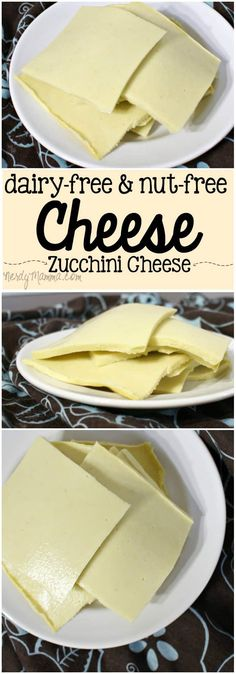 This dairy-free and nut-free cheese recipe is so yummy. It doesn't even taste like zucchini–it tastes like Cheese. This dairy-free and nut-free cheese recipe is so yummy. It doesn't even taste like zucchini–it tastes like Cheese. Vegan Cheese Recipes, Vegan Foods, Vegan Dishes, Dairy Free Recipes, Raw Food Recipes, Cooking Recipes, Gluten Free, Vegan Recipes No Nuts, Vegan Zucchini Recipes