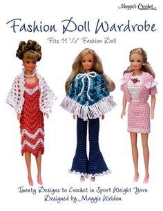 Picture of Fashion Doll Wardrobe Crochet Pattern Leaflet