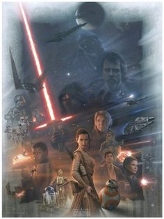"""pixalry: """" Star Wars: The Force Awakens - Created by Jerry Vanderstelt """""""