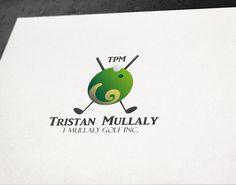 Progettazione logo per coach di Tennis.TPM - Tristan Mullaly #logo #design #graphic #tennis #sport #illustrator