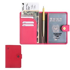 RFID Blocking Passport Compact Case No Skimming Wallet Red ** You can find more details by visiting the image link.