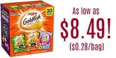 Pepperidge Farm Goldfish Variety Pack Bold Mix 30-Count as low as $8.49 ($0.28/Bag)!
