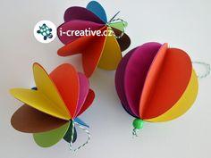 3D koule z papíru návod