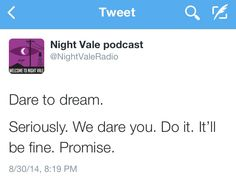 I don't care that i already have this. It may just be my favorite night vale tweet everrr