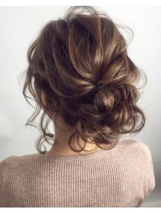 Best 30 Updo Hairstyles They'll Work For Any Occasion Short Wedding Hair, Wedding Hair And Makeup, Bridal Hair, Easy Updos For Medium Hair, Medium Hair Styles, Curly Hair Styles, Fancy Hairstyles, Wedding Hairstyles, Hair Arrange
