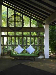 Outdoor Room...hate the pillows adore the room oh what I would do with this
