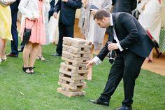 Garden games while the bride and groom get their photos taken