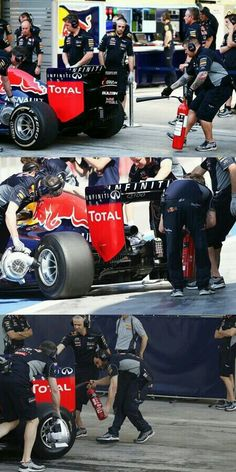 Red Bull has been testing different extinguisher upgrades: