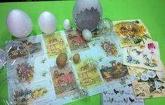 Crea le tue uova personalizzate per #pasqua2016    Tovaglioli, carte e carte riso decorate pasquali e primaverili Uova in plexi, polistirolo, legno e ceramica.
