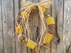 rustic corn husk wreath