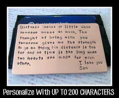 Portafoglio inserire scheda, timbrato a mano rame 7 ° anno anniversario regalo uomo sposo marito fidanzato - fino a 200 caratteri on Etsy, 11,38€
