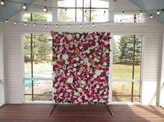 5' x 7' Pink Faux Flower Wall // FREE by WallFlowersByKate on Etsy
