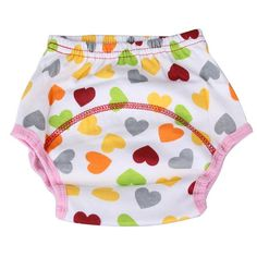 1Pcs Cute Baby Diapers Reusable Nappies Cloth Diaper Washable Infants Baby Cotton Training Pants Panties Nappy Changing