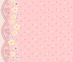 Sakura Bunnies - Pink! fabric by trirose on Spoonflower - custom fabric