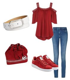 """""""Red Riot"""" by violalynx on Polyvore featuring Calvin Klein, adidas Originals, Michael Kors and Style & Co."""