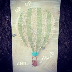 Up.. Up.. and Away   Cute custom string art   by TautlyTangled,