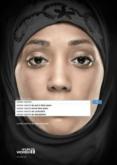 """Women need to be seen as equal""  UN Women: Auto Complete Truth 1  Ogilvy & Mather, Dubai, UAE"