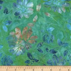 AmazonSmile: Timeless Treasures Tonga Batiks Lagoon Floral Scroll Mermaid Fabric By The Yard