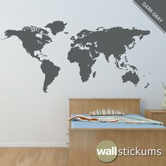 12' Large World Map Wall Decal Atlas Country Vinyl by WallStickums, $160.00