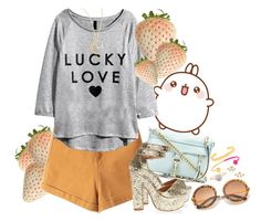 """""""Lucky love IX/II"""" by gabyidc ❤ liked on Polyvore featuring Rebecca Minkoff, Sydney Evan and BaubleBar"""