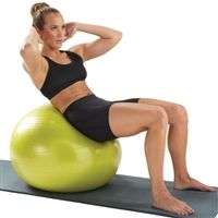 "Pure Fitness 55CM Exercise Ball, Stability Ball. 55cm is recommended for users 5'1"" to 5'7"""