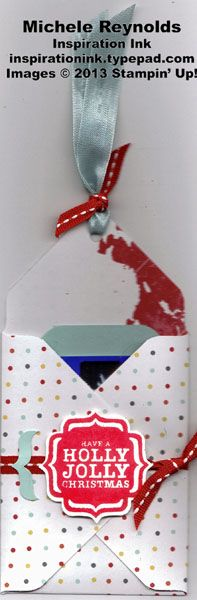 Quick and easy gift card holder using Stampin' Up! Tags 4 You Set and Envelope Punch Board.  Stampin' Up!
