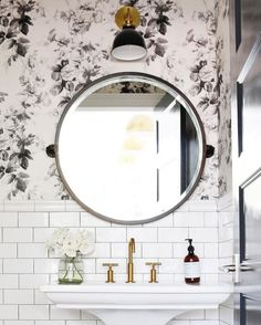 Circle mirrors. @thecoveteur